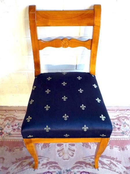 achterersatz st hle kirsche biedermeier schellack ebay. Black Bedroom Furniture Sets. Home Design Ideas